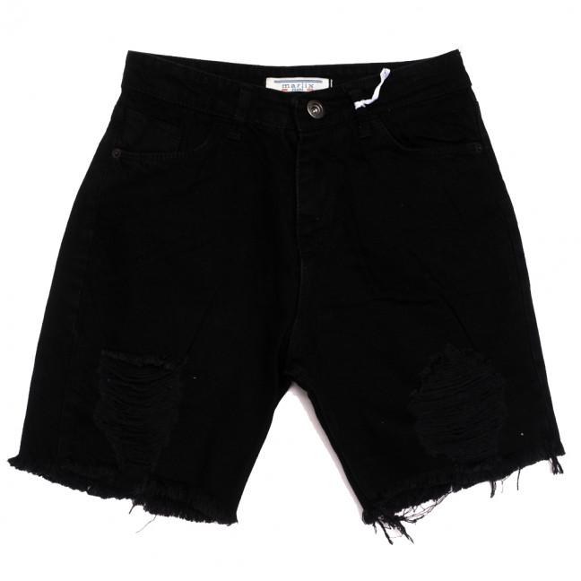 10020 Marlix шорты джинсовые женские черные коттоновые (26-32, 8 ед.) Marlix: артикул 1110280