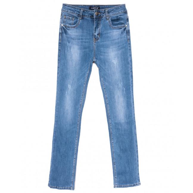 1571 Lady N джинсы женские полубатальные с царапками синие весенние стрейчевые (28-33, 6 ед.) Lady N: артикул 1109738