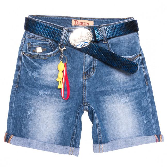 7078 Derun шорты джинсовые женские с царапками синие стрейчевые (25-30, 6 ед.) Derun: артикул 1109999