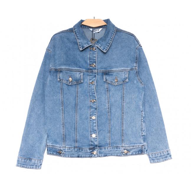 1510 Lady N куртка джинсовая женская синяя весенняя стрейчевая (L-4XL, 6 ед.) Lady N: артикул 1109751