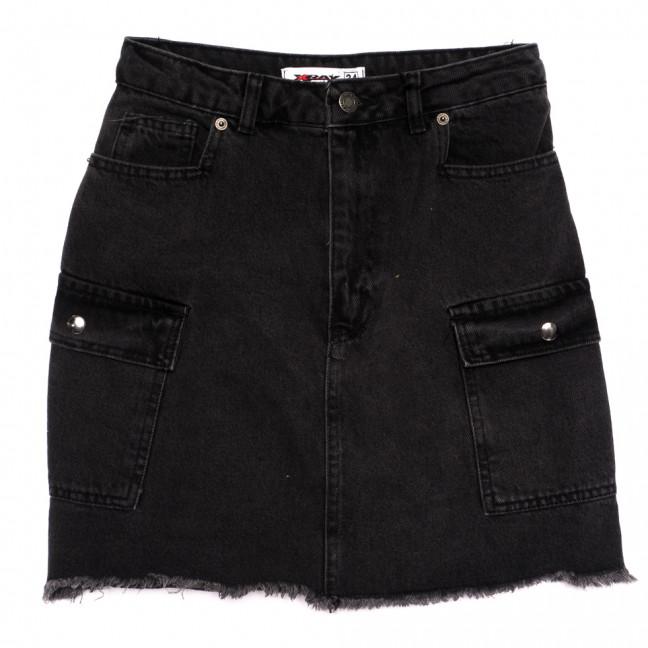 3323 Xray юбка джинсовая серая весенняя коттоновая (34-40, 6 ед.) XRAY: артикул 1110393
