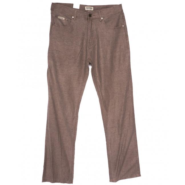 0309 Plus Press брюки мужские полубатальные коричневые весенние коттоновые (32-38, 8 ед.) Plus Press: артикул 1110022
