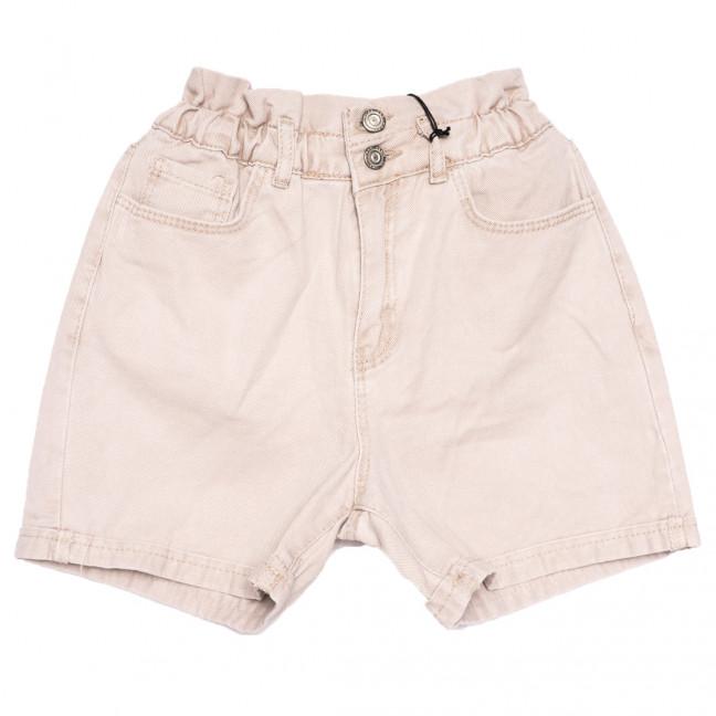 20310 YMR шорты джинсовые женские бежевые коттоновые (34-42,евро, 8 ед.) YMR: артикул 1110432
