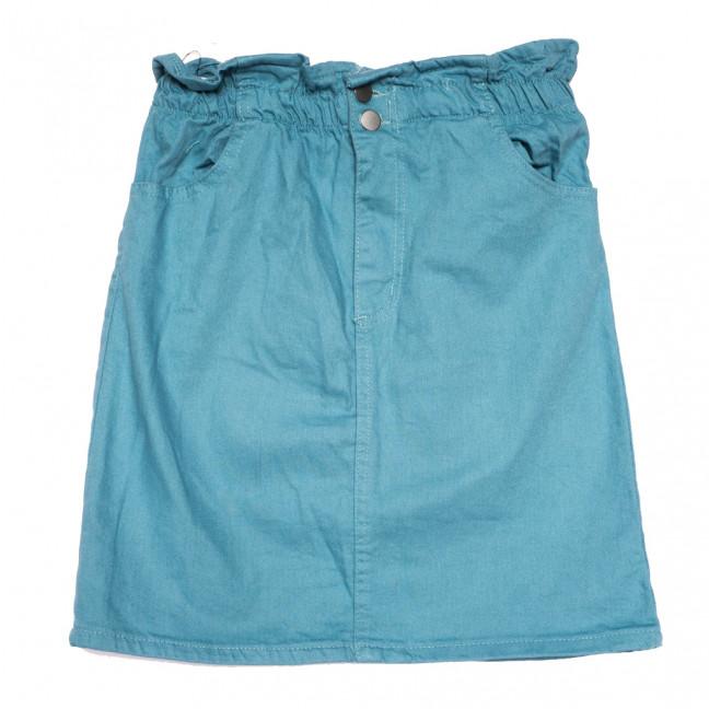 0227 Defile юбка джинсовая бирюзовая весенняя коттоновая (34-40,евро, 7 ед.) Defile: артикул 1110270