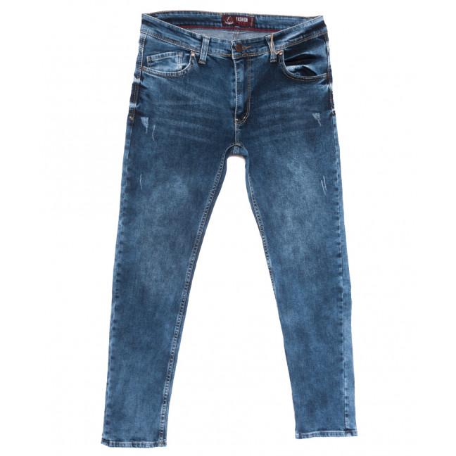 6892 Fashion red джинсы мужские полубатальные c царапками синие весенние стрейчевые (32-40, 8 ед.) Fashion Red: артикул 1110140