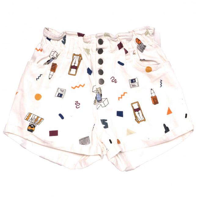 0226 Defile шорты джинсовые женские с орнаментом белые коттоновые (34-40,евро, 6 ед.) Defile: артикул 1110282