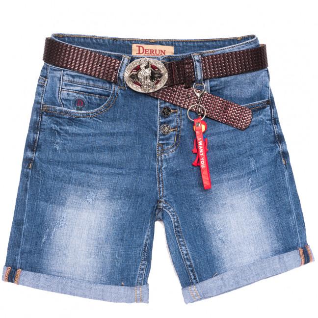 7083 Derun шорты джинсовые женские с царапками синие стрейчевые (25-30, 6 ед.) Derun: артикул 1109992