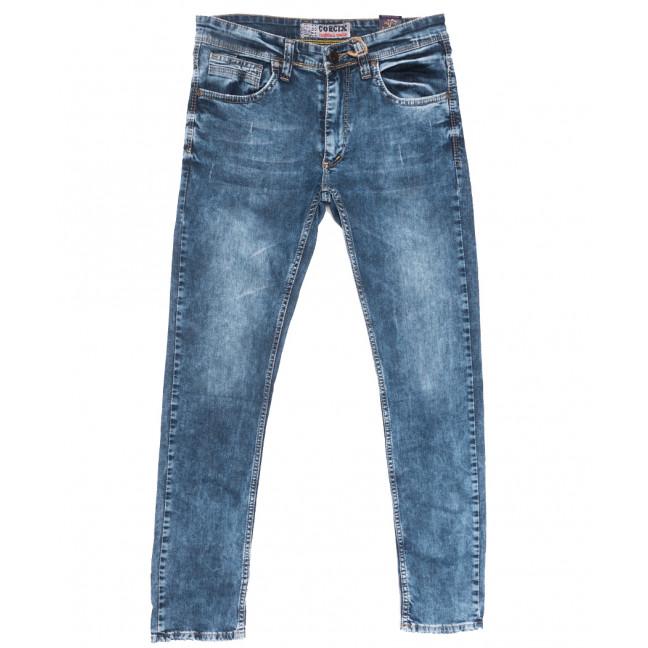6713 Corcix джинсы мужские c царапками синие весенние стрейчевые (29-36, 8 ед.) Corcix: артикул 1110129