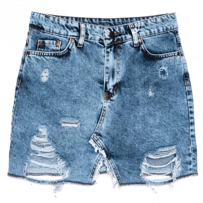 0456 Marlix юбка джинсовая с рванкой синяя весенняя коттоновая (26-32, 6 ед.) Marlix: артикул 1110285