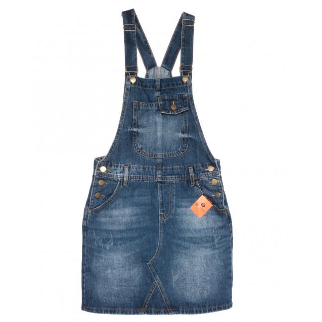 0334-1 Y Relucky сарафан джинсовый синий осенний коттоновый (25-30, 6 ед.) Relucky: артикул 1110356