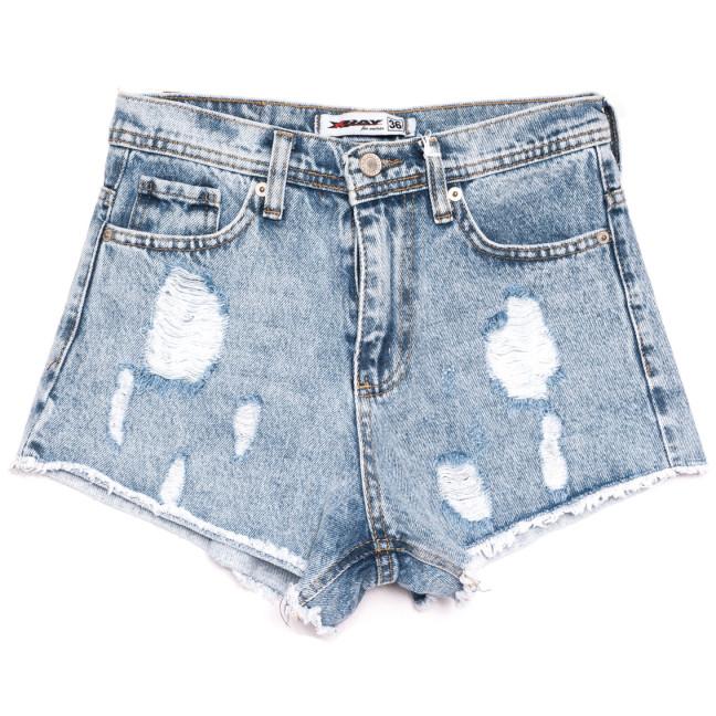 3439 Xray шорты джинсовые женские с рванкой синие коттоновые (34-40,евро, 5 ед.) XRAY: артикул 1110390