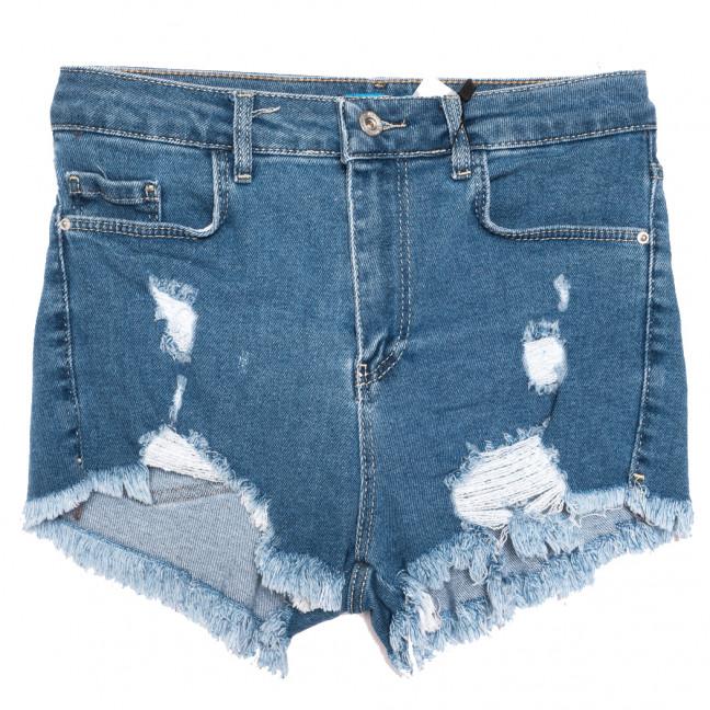 4015-3 Real Focus шорты джинсовые женские с рванкой синие стрейчевые (26-30, 5 ед.) Real Focus: артикул 1110522