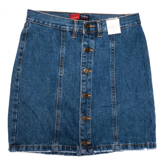 9912-5 V Relucky юбка джинсовая на пуговицах синяя осенняя коттоновая (25-30, 6 ед.) Relucky: артикул 1110587