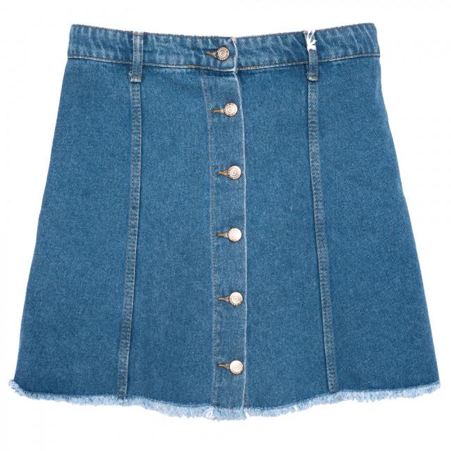 2840 Geronis юбка джинсовая на пуговицах синяя весенняя коттоновая (34-42,евро, 8 ед.) Geronis: артикул 1110276