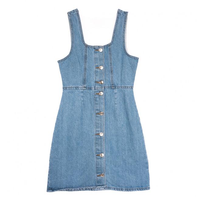 3325 сарафан джинсовый синий весенний коттоновый (XS-L, 6 ед.) Сарафан: артикул 1110306