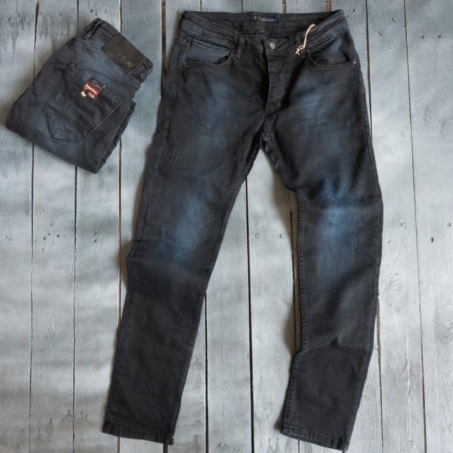 4839 Blue Nil джинсы мужские с царапками темно-синие весенние стрейчевые (29-36, 8 ед.) Blue Nil: артикул 1109407