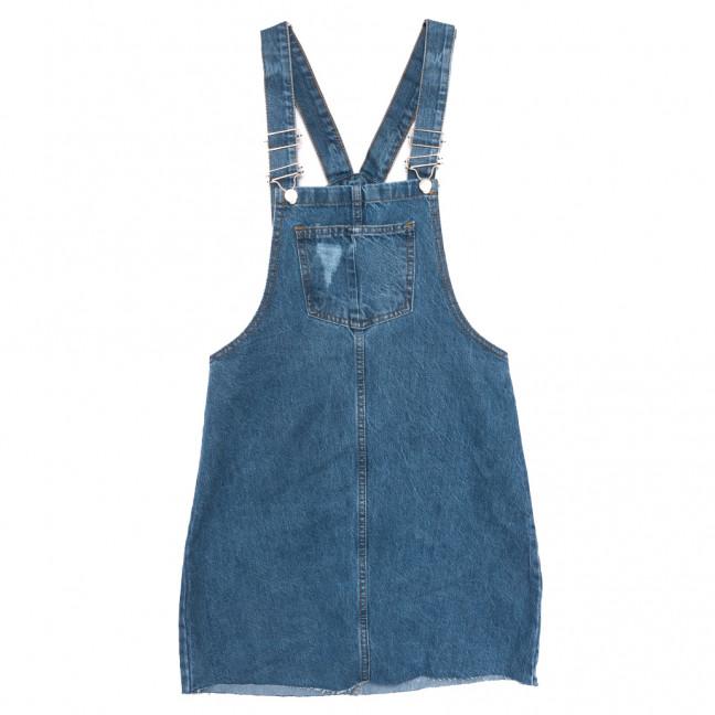 10545 Defile сарафан джинсовый с рванкой синий весенний коттоновый (34-40,евро, 6 ед.) Defile: артикул 1109875
