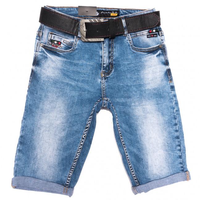 6132 Resalsa шорты джинсовые мужские молодежные с царапками синие стрейчевые (27-33, 7 ед.) Resalsa: артикул 1109689