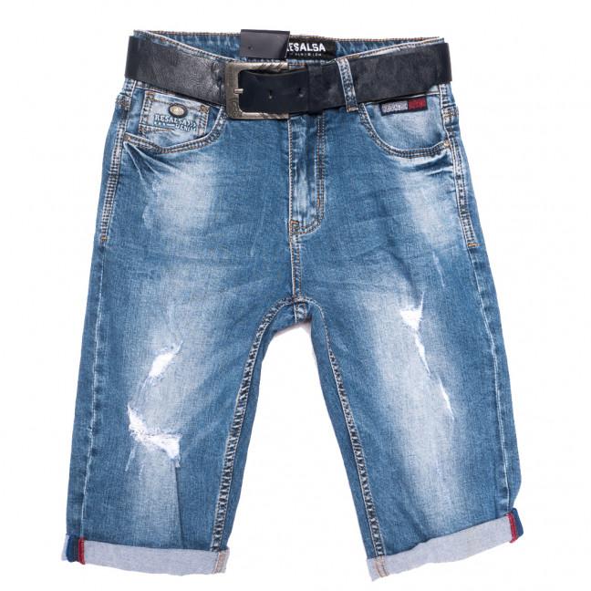 6204 Resalsa шорты джинсовые мужские с рванкой синие стрейчевые (29-36, 7 ед.) Resalsa: артикул 1109686