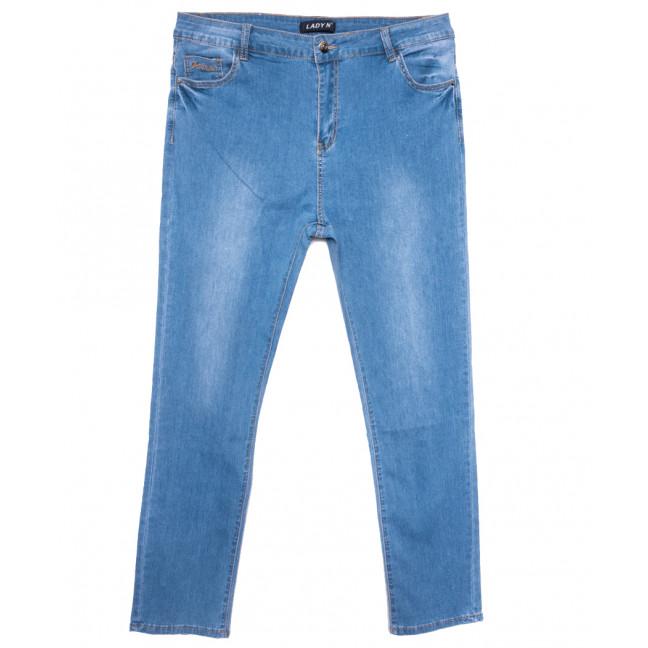 1588 Lady N джинсы женские батальные синие весенние стрейчевые (32-42, 6 ед.) Lady N: артикул 1109739