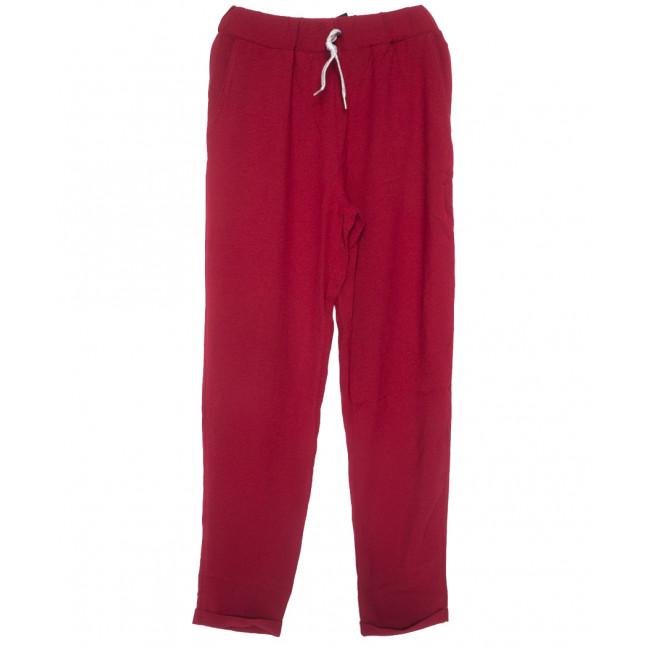 0216-42 бордовые Exclusive брюки женские летние стрейчевые (42-48,евро, 4 ед.) Exclusive: артикул 1109752