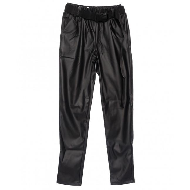 0020-42 Exclusive брюки женские из кожзама черные весенние (42-48,норма, 4 ед.) Exclusive: артикул 1109761