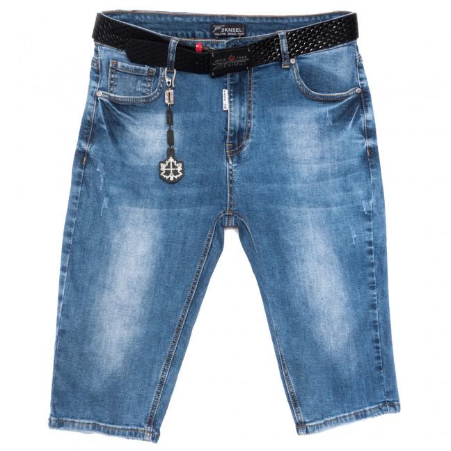 1113 Dknsel шорты джинсовые женские батальные с царапками синие стрейчевые (31-38, 6 ед.) Dknsel: артикул 1109608