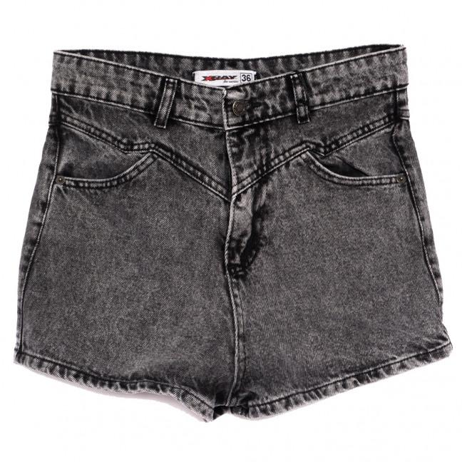 3358 Xray шорты джинсовые женские серые коттоновые (34-40,евро, 5 ед.) XRAY: артикул 1110425