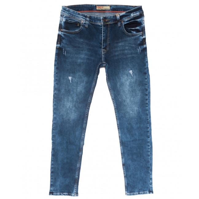 6891 Corcix джинсы мужские полубатальные c царапками синие весенние стрейчевые (32-40, 8 ед.) Corcix: артикул 1110137