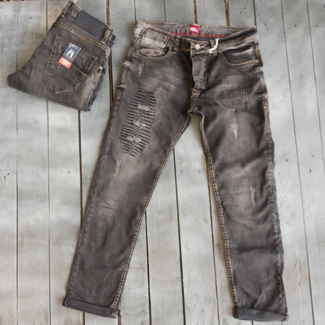 4207 Corcix джинсы мужские с рванкой серые весенние стрейчевые (29-36, 8 ед.) Corcix: артикул 1109421