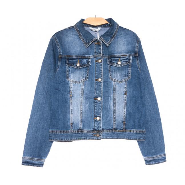 0353 Zijinyan куртка джинсовая женская батальная с царапками синяя весенняя стрейчевая (XL-6XL, 6 ед.) Zijinyan: артикул 1110004
