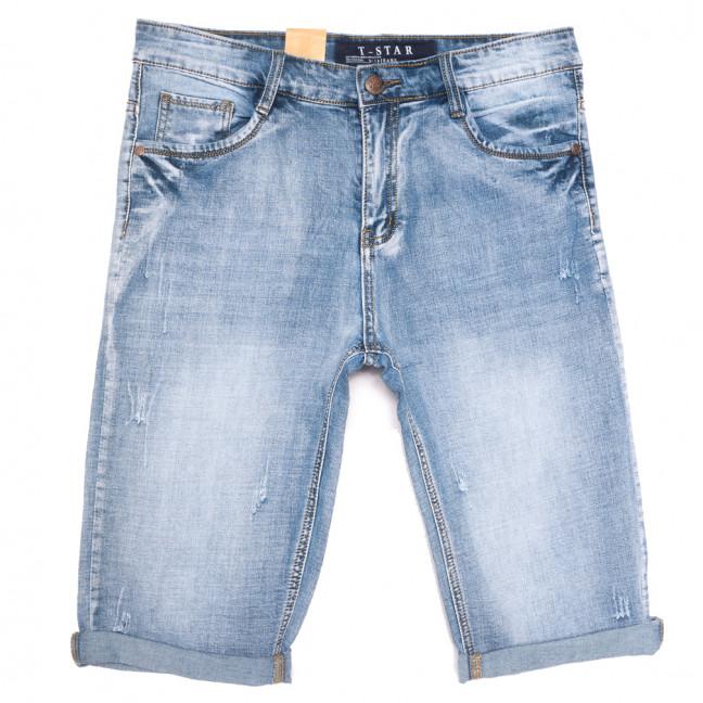 8801 T-Star шорты джинсовые мужские полубатальные с царапками синие стрейчевые (32-38, 8 ед.) T-Star: артикул 1109838