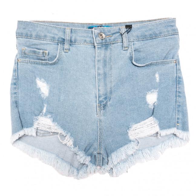 4015-4 Real Focus шорты джинсовые женские с рванкой синие стрейчевые (26-30, 5 ед.) Real Focus: артикул 1110521