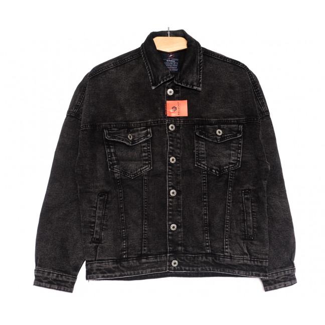 0021-2 A Relucky куртка джинсовая женская серая осенняя стрейчевая (S-L, 6 ед.) Relucky: артикул 1110375