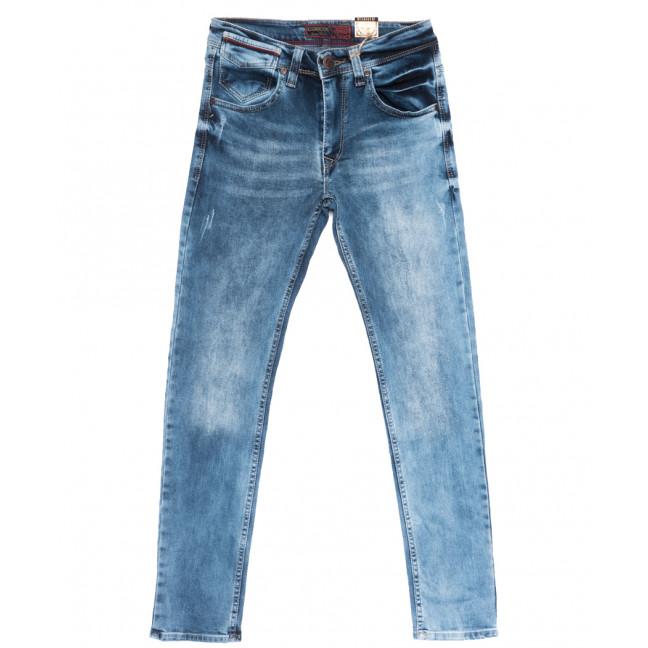 6795 Corcix джинсы мужские c царапками синие весенние стрейчевые (29-36, 8 ед.) Corcix: артикул 1110128