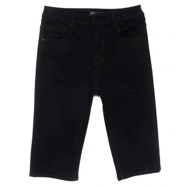 0122 шорты джинсовые женские батальные черные стрейчевые (31-38, 6 ед.) Шорты: артикул 1109623