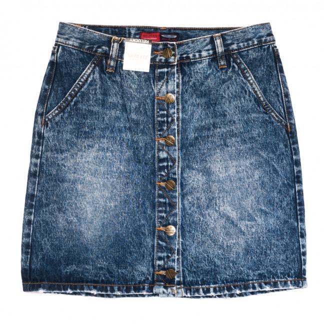 9907-5 V Relucky юбка джинсовая на пуговицах синяя осенняя коттоновая (25-30, 6 ед.) Relucky: артикул 1110586