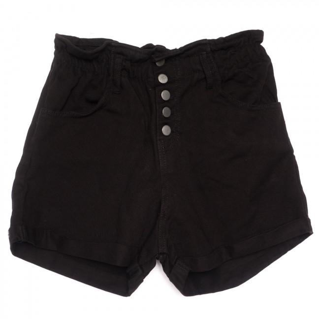 0226 Defile шорты джинсовые женские на резинке черные коттоновые (34-40,евро, 6 ед.) Defile: артикул 1109961