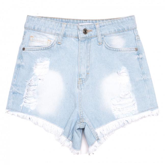 5875 шорты джинсовые женские с рванкой синие коттоновые (34-40, 6 ед.) Шорты: артикул 1110389