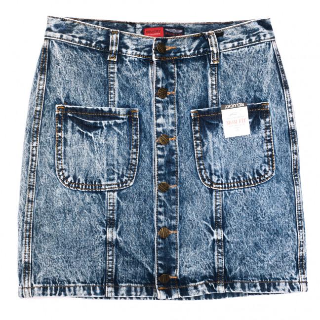 9903-5 V Relucky юбка джинсовая на пуговицах синяя осенняя коттоновая (25-30, 6 ед.) Relucky: артикул 1110590