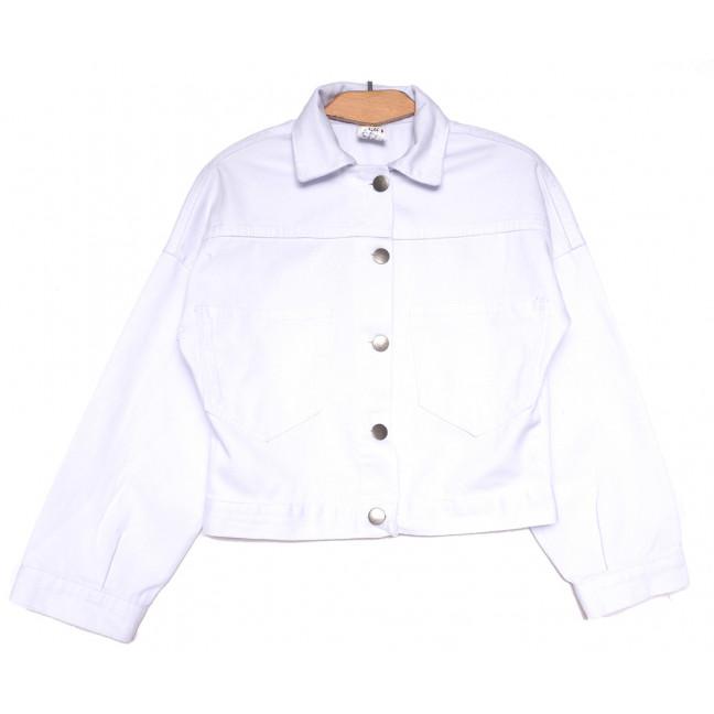 114528 Defile куртка джинсовая женская белая весенняя коттоновая (S-L, 4 ед.) XRAY: артикул 1109879