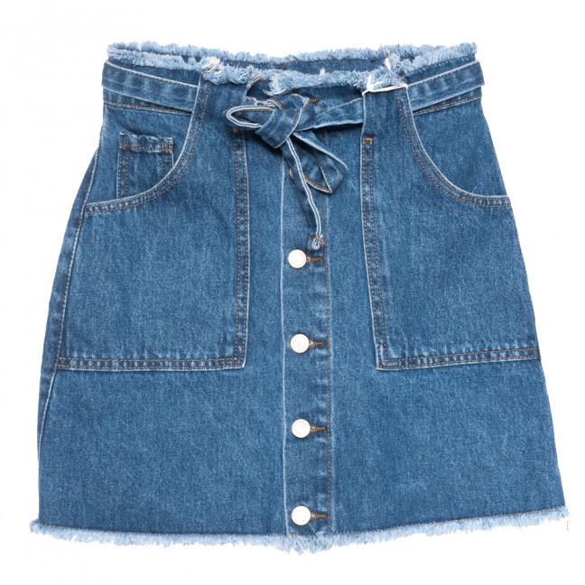 3386 синяя Xray юбка джинсовая на пуговицах коттоновая (34-40,евро, 6 ед.) XRAY: артикул 1109866