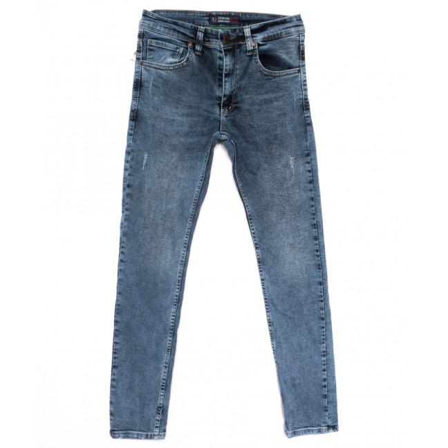6879 Fashion red джинсы мужские с царапками синие весенние стрейчевые (29-36, 8 ед.) Fashion Red: артикул 1110259