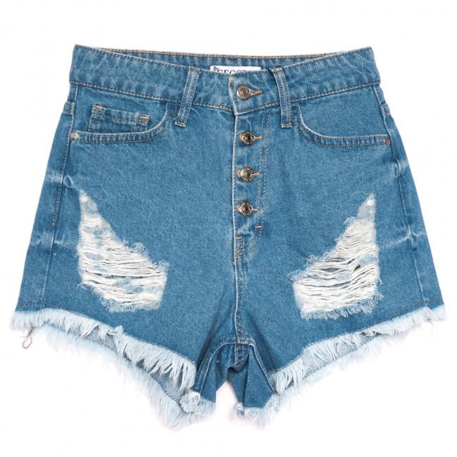 5864 Gecce шорты джинсовые женские с рванкой синие коттоновые (34-40,евро, 6 ед.) Gecce: артикул 1110391