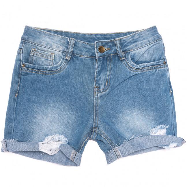 0060 Jushioumfiva шорты джинсовые женские с рванкой синие коттоновые (25-30, 6 ед.) Jushioumfiva: артикул 1109871