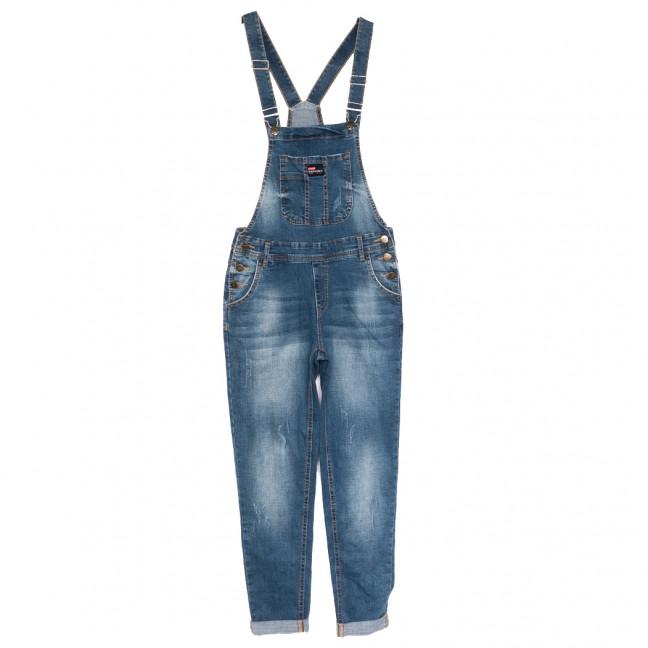 3318-1 Y Relucky комбинезон джинсовый женский полубатальный синий осенний стрейчевый (28-33, 6 ед.) Relucky: артикул 1110602