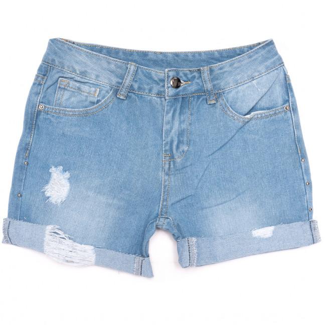 0062 Jushioumfiva шорты джинсовые женские с рванкой синие коттоновые (25-30, 6 ед.) Jushioumfiva: артикул 1109873
