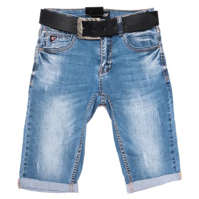 6097 Resalsa шорты джинсовые мужские молодежные с царапками синие стрейчевые (27-33, 7 ед.) Resalsa: артикул 1109688