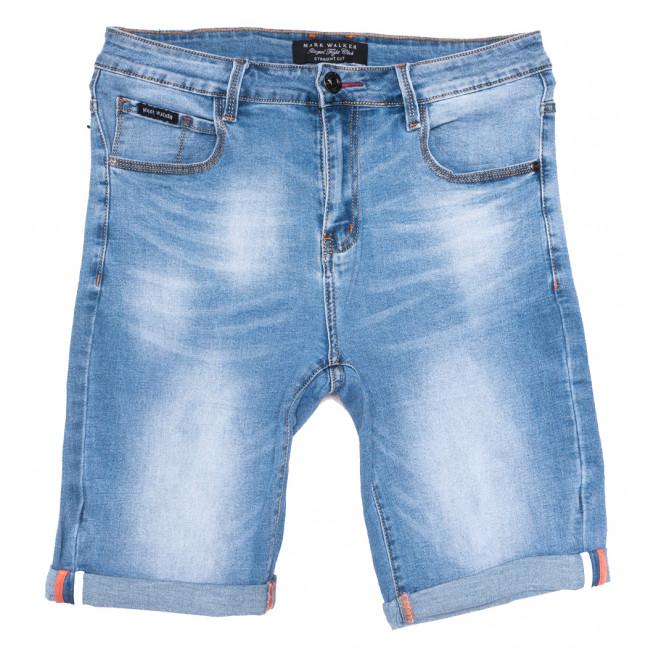 3009 Mark Walker шорты джинсовые мужские полубатальные синие стрейчевые (32-42, 8 ед.) Mark Walker: артикул 1109827