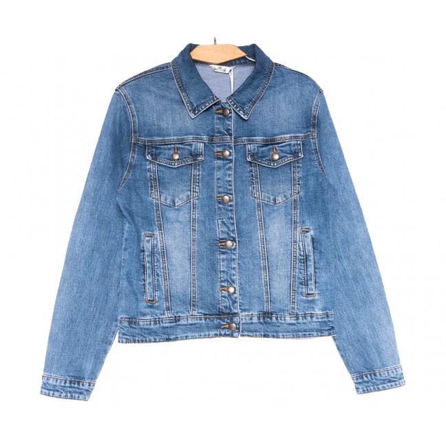 0352 Zijinyan куртка джинсовая женская батальная синяя весенняя стрейчевая (XL-6XL, 6 ед.) Zijinyan: артикул 1110003
